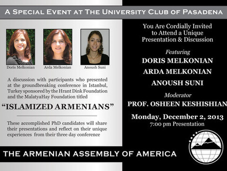"""Armenian Assembly Panel Discussion on """"Islamized Armenians"""""""