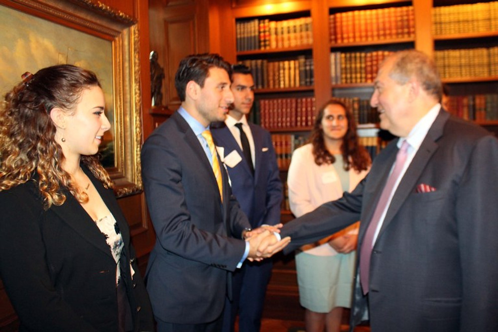 President Sarkissian with Interns 2