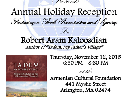 Armenian Assembly Annual Holiday Reception, 2015 (Flyer)