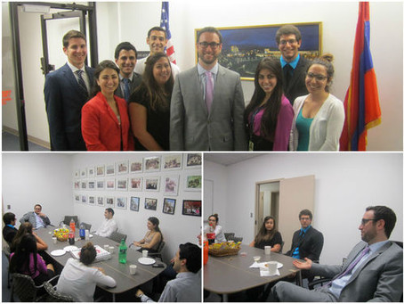 Assembly Board Member Aram Gavoor Meets with Summer Interns