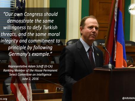 Rep. Schiff Statement on German Legislature Recognizing the Armenian Genocide