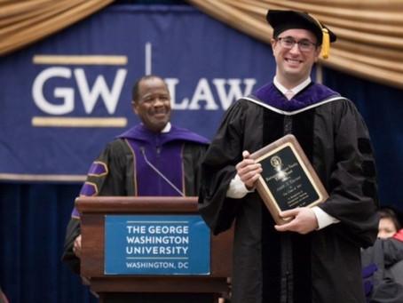 Armenian Assembly Board Member Aram Gavoor Awarded Prestigious George Washington Law School Award