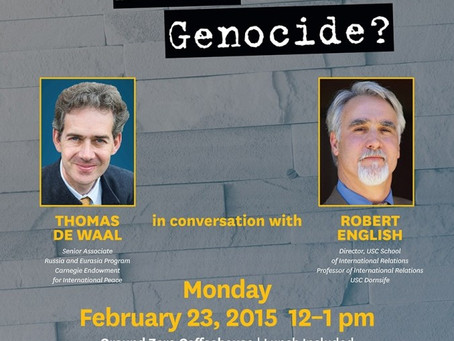 """""""What happens after genocide?"""" by University of Southern California Institute of Armenian Studies"""