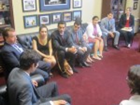 Assembly Interns Discuss Armenian Issues with House Foreign Affairs Committee Chairman Rep. Ed Royce