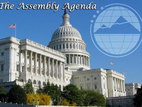The Assembly Agenda – September 27, 2013