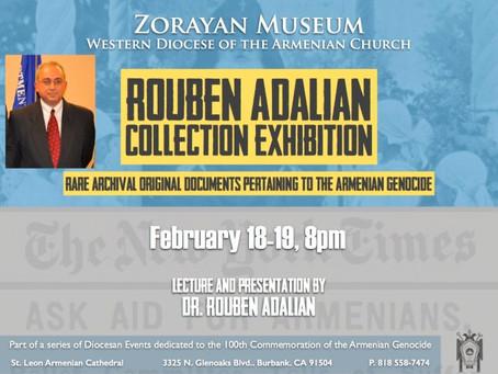 Upcoming Rouben Adalian Collection Exhibition in Burbank, California