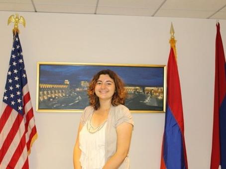 Armenian Assembly Welcomes New Intern Kyra Chamberlain from George Washington University