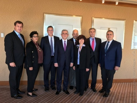 Armenian Assembly of America Board of Trustees Meet with President Sargsyan