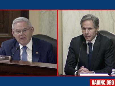 Senator Bob Menendez Raises Concerns about Turkey/Azerbaijan During Confirmation Hearing