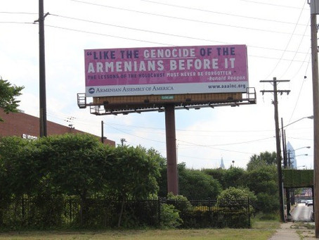Armenian Genocide Billboards Welcome Delegates to Republican National Convention