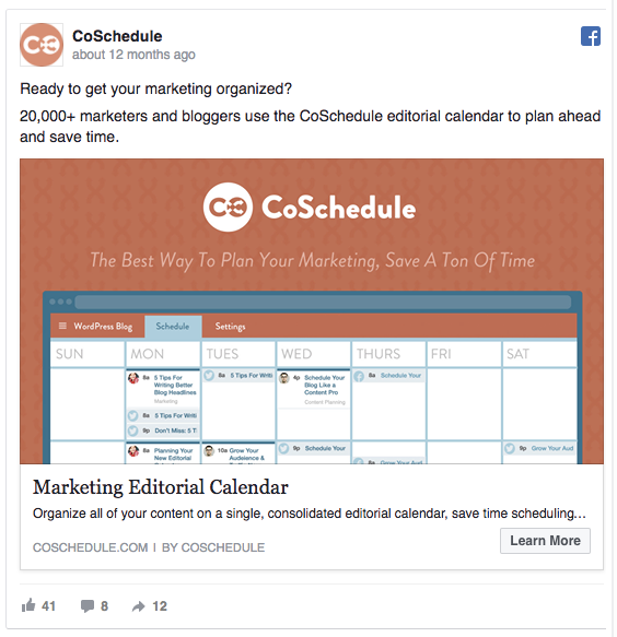 facebook ad best practices example