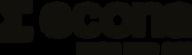 Econa logo – liggende sort - Regn med os