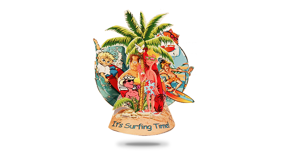 its surfing time