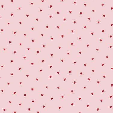 Baumwolle Herzen rosa rot