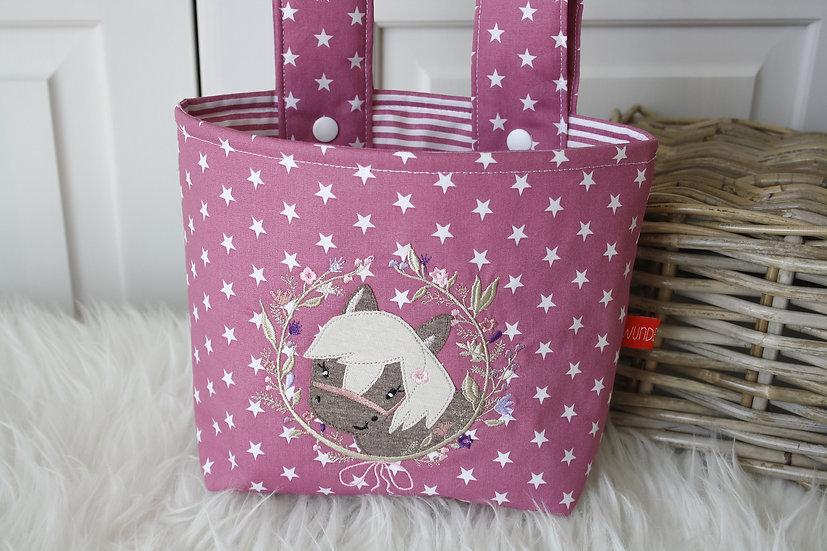 Lenkertasche - Ponny im Blütenkranz