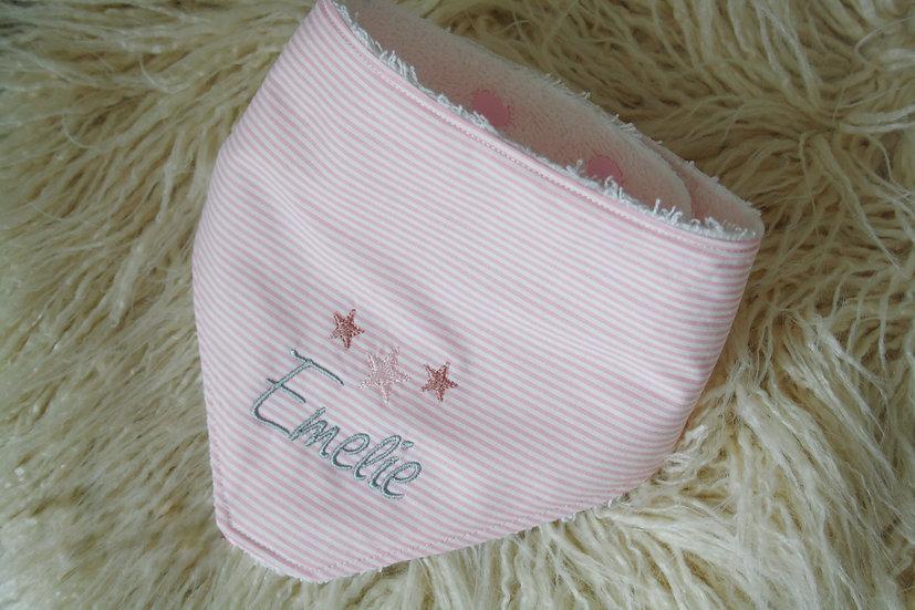 Halstuch Baumwolle - Sterne mit Name