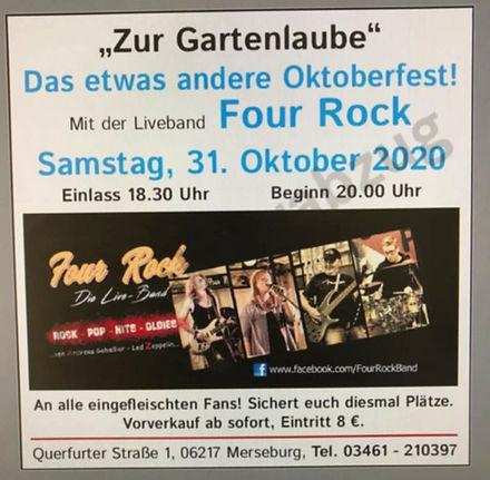 Four Rock 2020 Merseburg Gaststätte Zur Gartenlaube Oktoberfest