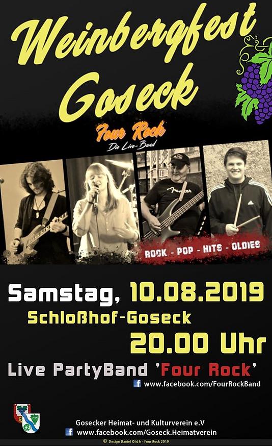Four Rock 2019 Goseck Weinbergfest Schlosshof