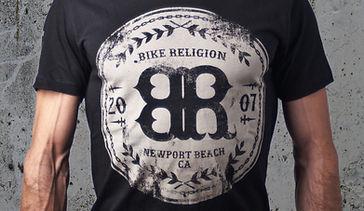 Bike Religion Emblem TShirt Design
