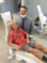Dr. Willam Waite and patient