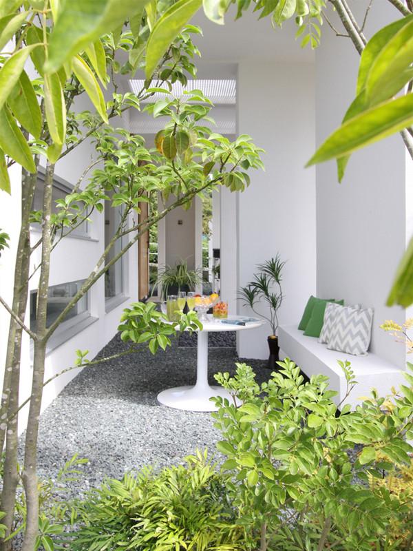 静岡の住宅の施工例(中庭)