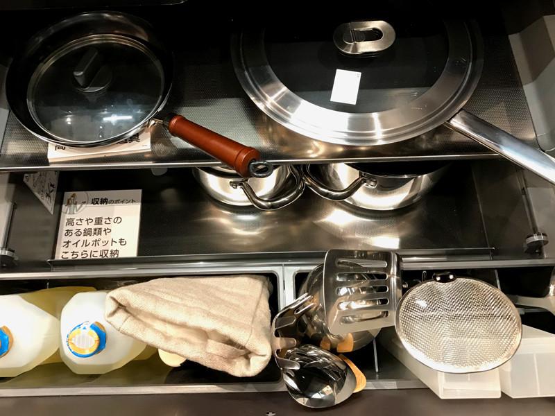 静岡の注文住宅、大容量システムキッチン