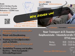 Wir sind umgezogen / Neuer Trainingsort in Jena