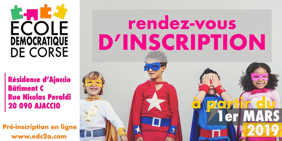 RENDEZ-VOUS D'INSCRIPTION (1)