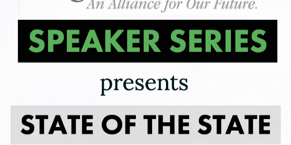 STATE OF THE STATE   April Speaker Series
