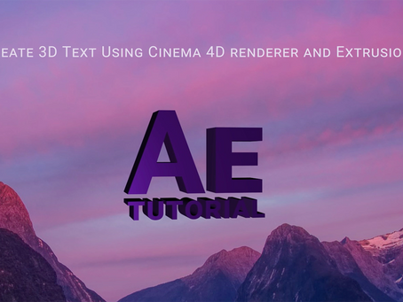 Create 3D Text Using Cinema 4D Renderer and Extrusion I After Effects