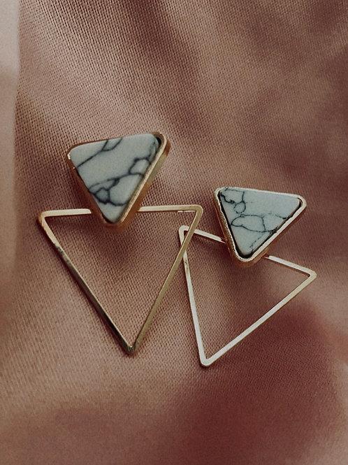 Double Triangular Earrings