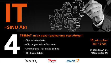 Toimub Intelex Insighti, Datafoxi ja 3 Step IT ühisseminar.