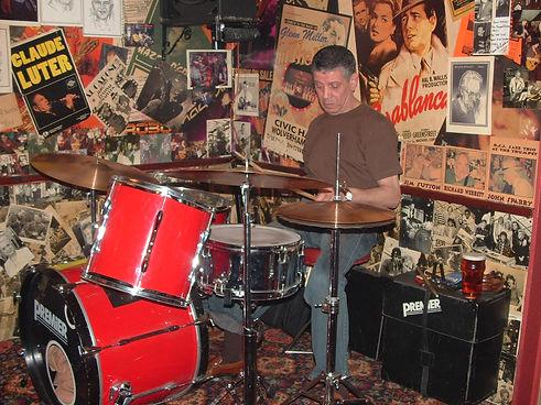 musti on drum kit.JPG