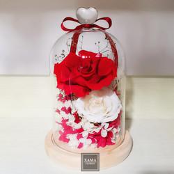 XN04 紅+白玫瑰