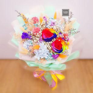 彩虹玫瑰 保鮮花束