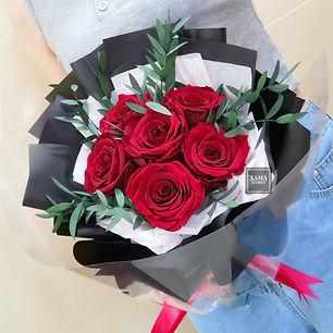 酒紅玫瑰保鮮 花束