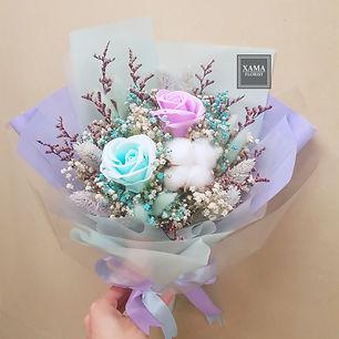 粉紫藍香皂花小花束.jpg