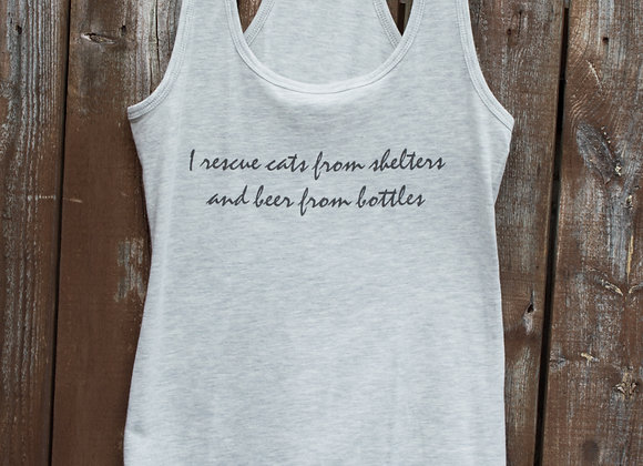 I Rescue Cats & Beer Tank