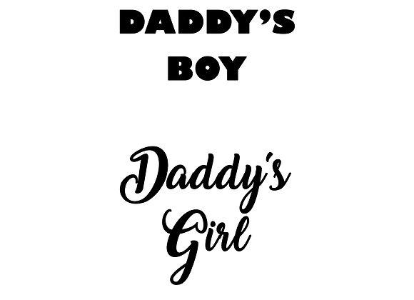 Daddy's Boy/Daddy's Girl