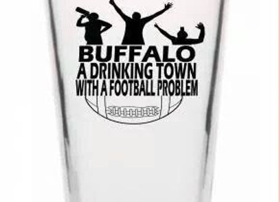 Drinking Town Pint Glass