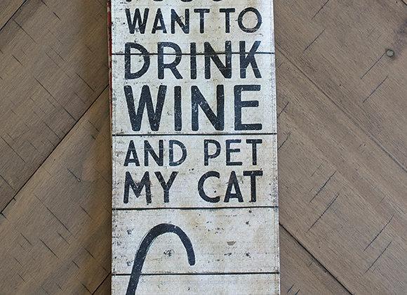 Cat Wine Bag
