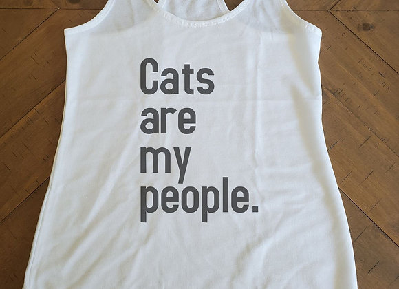 Cats are my people. Terry Cloth Tank