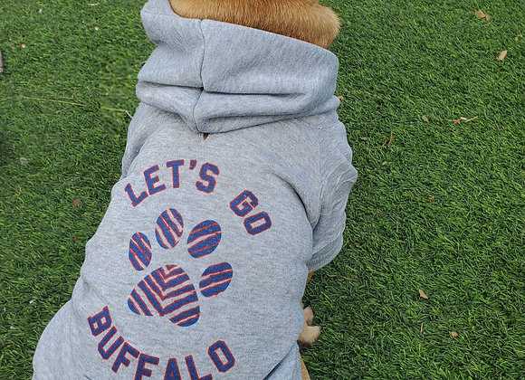 Let's Go Buffalo Dog Hoodie