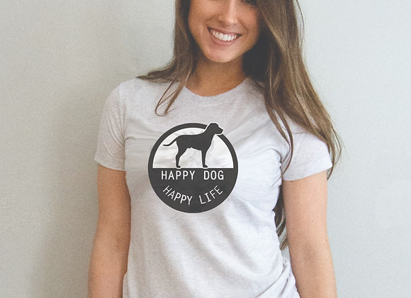 Happy Dog, Happy Life Women's Tee