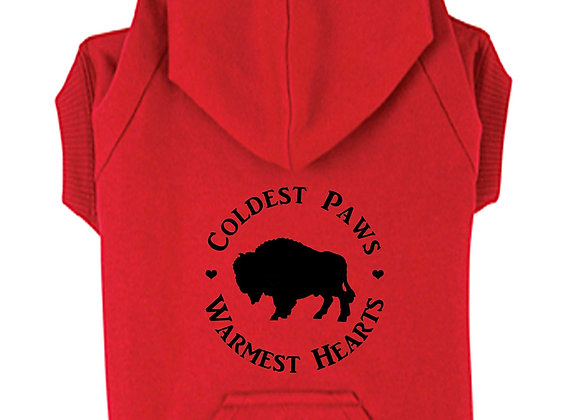 Coldest Paws, Warmest Hearts Dog Hoodie