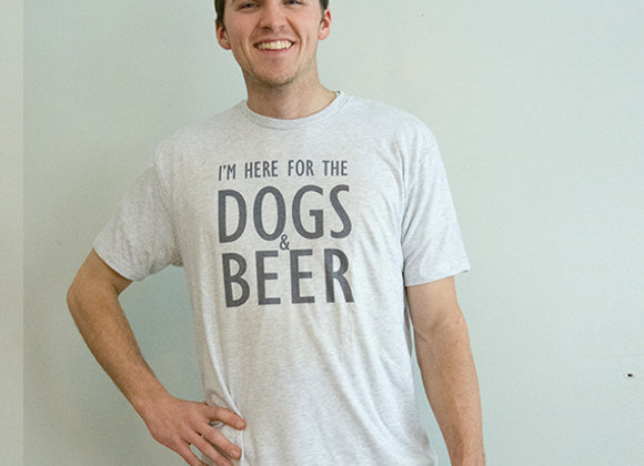I'm Here for the Dogs & Beer