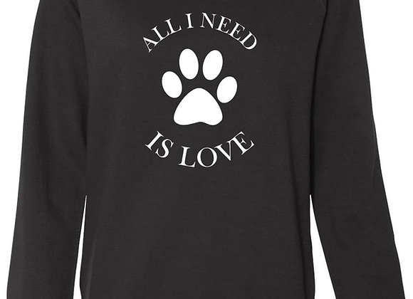 All I need is Love Crewneck Sweatshirt