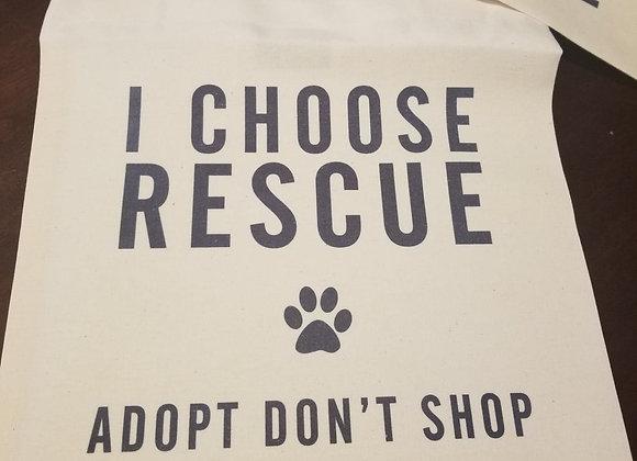 I Choose Rescue Tote Bag