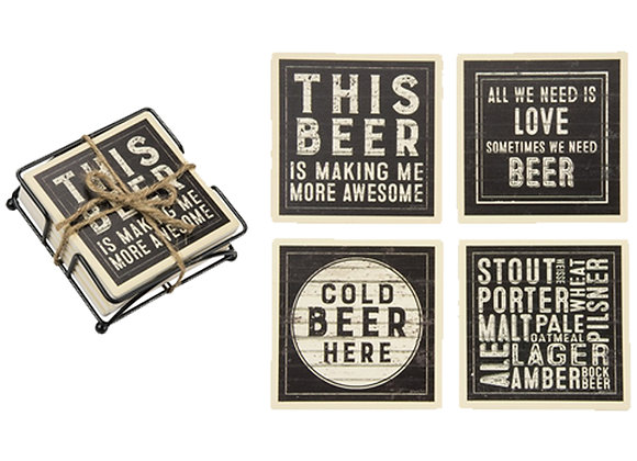 Beer Stone Coasters
