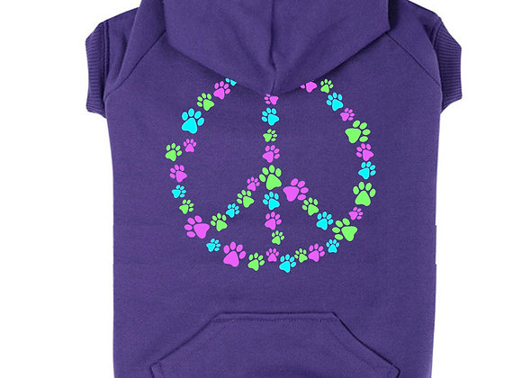 Peace and Paws Dog Hoodie
